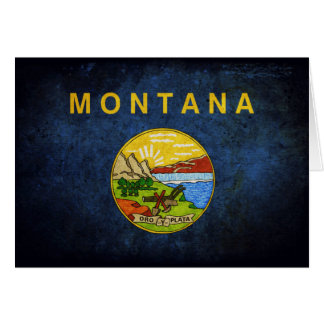 Flagge von Montana Karte