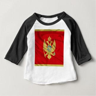 Flagge von Montenegro Baby T-shirt