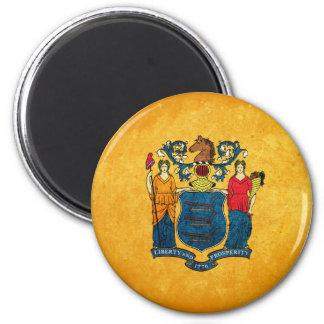 Flagge von New-Jersey Runder Magnet 5,1 Cm