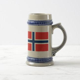 Flagge von Norwegen Bierglas