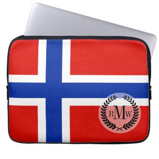 Flagge von Norwegen Laptopschutzhülle