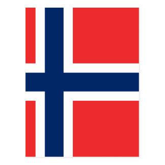 Flagge von Norwegen - Norges flagg - Det norske Postkarte