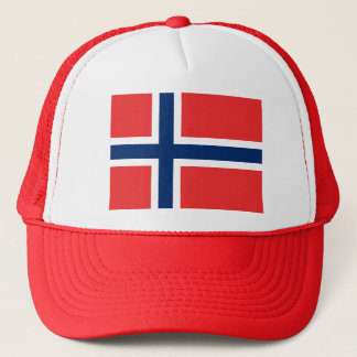 Flagge von Norwegen - Norges flagg - Det norske Truckerkappe