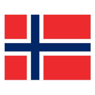 Flagge von Norwegen Postkarte