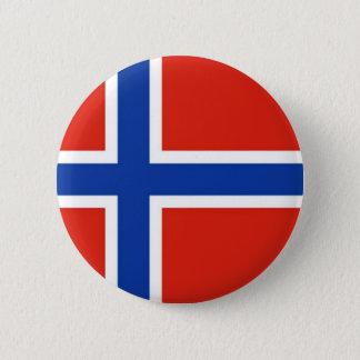 Flagge von Norwegen Runder Button 5,1 Cm