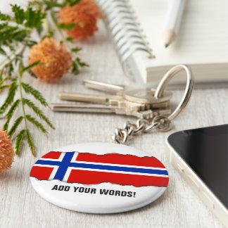 Flagge von Norwegen Schlüsselanhänger