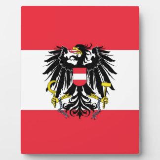 Flagge von Österreich - Flagge Österreichs Fotoplatte