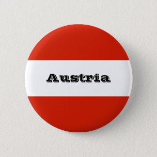 Flagge von Österreich Runder Button 5,7 Cm