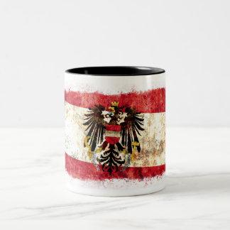 Flagge von Österreich Zweifarbige Tasse