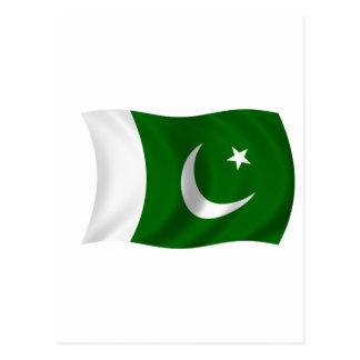 Flagge von Pakistan Postkarte