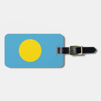 Flagge von Palau-Gepäckanhänger mit Lederband Koffer Anhänger