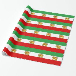 Flagge von Persien/von Iran (1964-1980) Geschenkpapier
