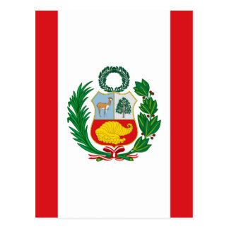 Flagge von Peru Postkarte