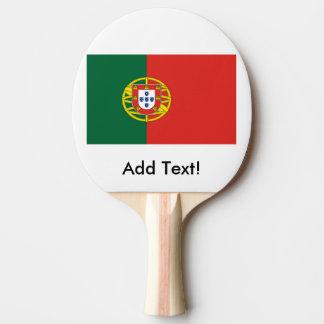 Flagge von Portugal Tischtennis Schläger