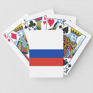 Flagge von Russland - ФлагРоссии - Триколор Bicycle Spielkarten