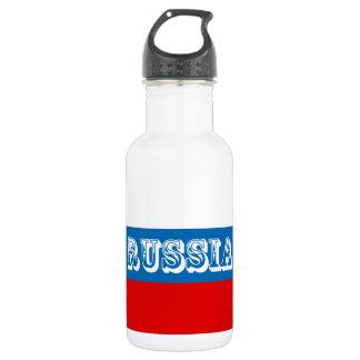 Flagge von Russland Trinkflasche