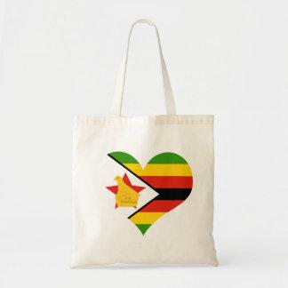 Flagge von Simbabwe Afrika Tragetasche