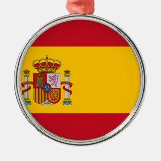 Flagge von Spanien Silbernes Ornament