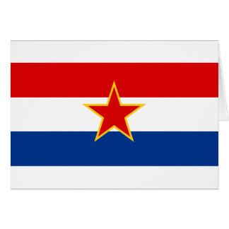 Flagge von SR Kroatien Karte