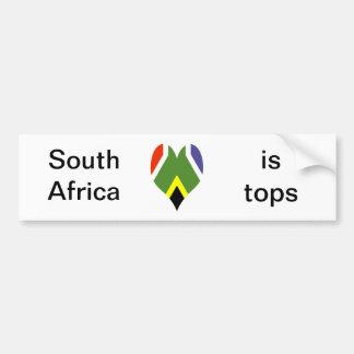 Flagge von Südafrika Bokke Autoaufkleber
