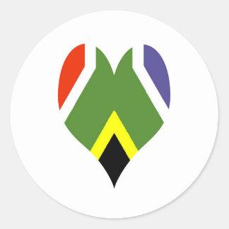 Flagge von Südafrika Bokke Runder Aufkleber