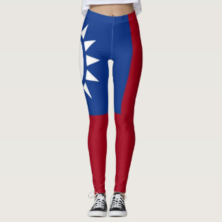 Flagge von Taiwan die Republik China Leggings