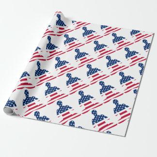 Flagge von USA-Meditation Amerikaneryoga Geschenkpapier