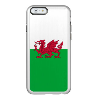 Flagge Wales silbernen iPhone Falles Incipio Feather® Shine iPhone 6 Hülle