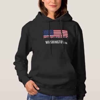 Flagge-Washington DC-Skyline Hoodie