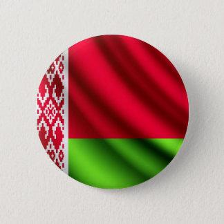 Flagge Weißrusslands wellenartig bewegender Runder Button 5,1 Cm