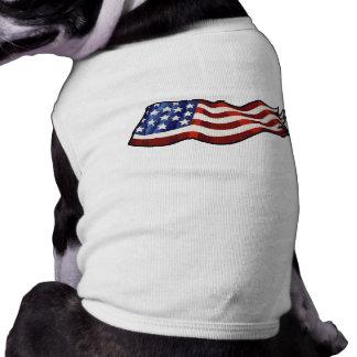 Flagge-Wellenartig bewegen patriotisch Shirt