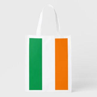 Flagge wiederverwendbarer Einkaufstüte Irlands Tragetaschen