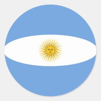 Flaggen-Aufkleber Argentiniens Fisheye Runder Aufkleber
