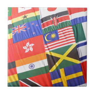 Flaggen der Welt Keramikfliese