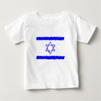 Flaggen-Israel-Blau-Land Baby T-shirt