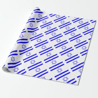 Flaggen-Israel-Blau-Land Geschenkpapier