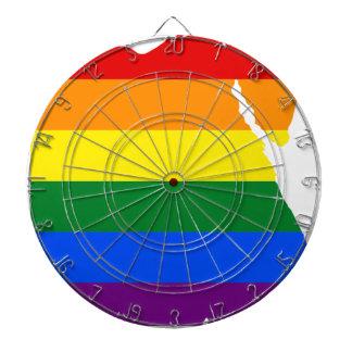 Flaggen-Karte Ägyptens LGBT Dartscheibe