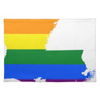Flaggen-Karte Louisianas LGBT Tischset