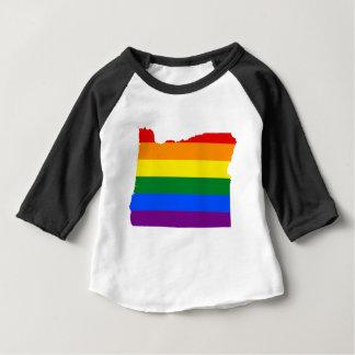 Flaggen-Karte Oregons LGBT Baby T-shirt