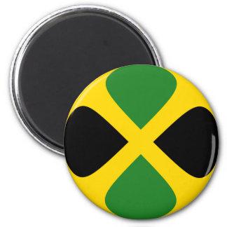 Flaggen-Magnet Jamaikas Fisheye Runder Magnet 5,7 Cm