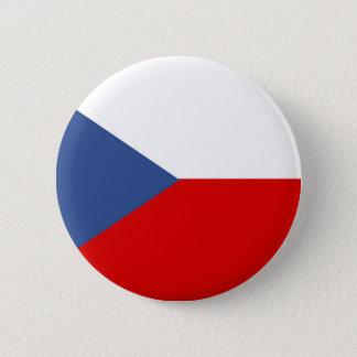 Flaggen-Nationssymbol des Landes der Tschechischen Runder Button 5,7 Cm