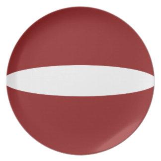 Flaggen-Platte Lettlands Fisheye Teller