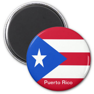 Flaggen von Puerto Rico Runder Magnet 5,1 Cm