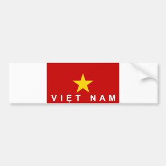 Flaggenland-Textname Vietnams Vietnam Autoaufkleber