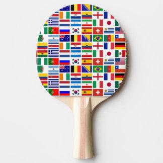Flaggenmuster des FUSSBALLS 2014 Tischtennis Schläger