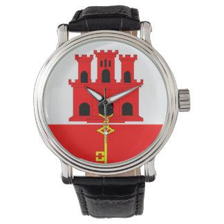 Flaggennations-Symbolrepublik Gibraltar-Landes Uhr
