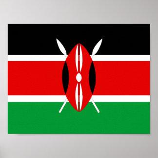 Flaggennations-Symbolrepublik Kenia-Landes lange Poster