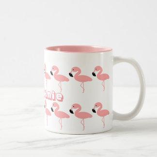 Flamingo addieren gerade Namen Zweifarbige Tasse