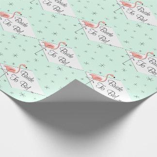 Flamingo-Aquadiamant Braut zum zu sein! Packpapier Geschenkpapierrolle