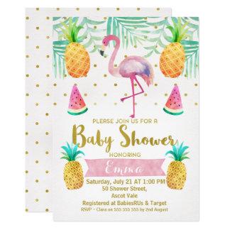 Flamingo-Aquarell-Babyparty-Einladung 12,7 X 17,8 Cm Einladungskarte